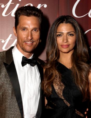 Matthew McConaughey and Camila Alves-McConaughey arrive for Desert Palm Achievement Award -- Actor