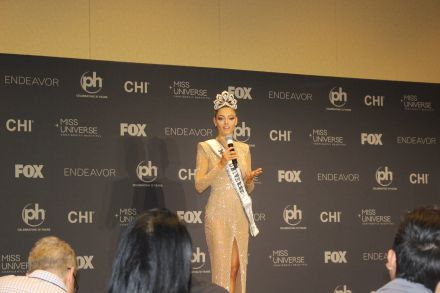 Demi-Leigh Nel-Peters press conference as Miss Universe 2017